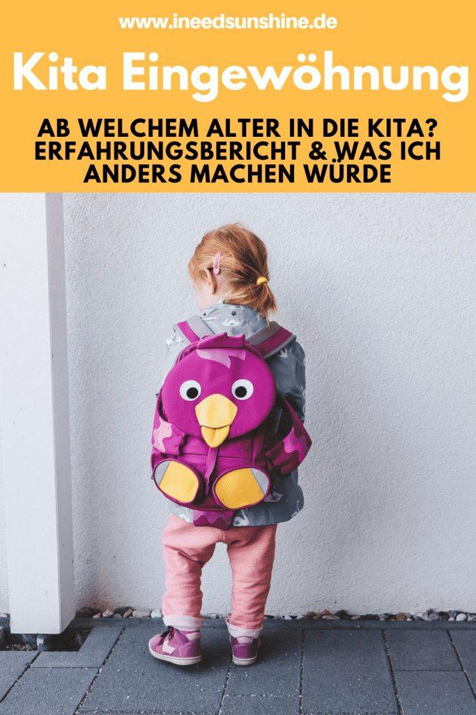 Meine Kita Eingewöhnung Erfahrungen mit Kind 2 Jahre alt welches nicht in Kindergarten möchte auf Mamablog I need sunshine
