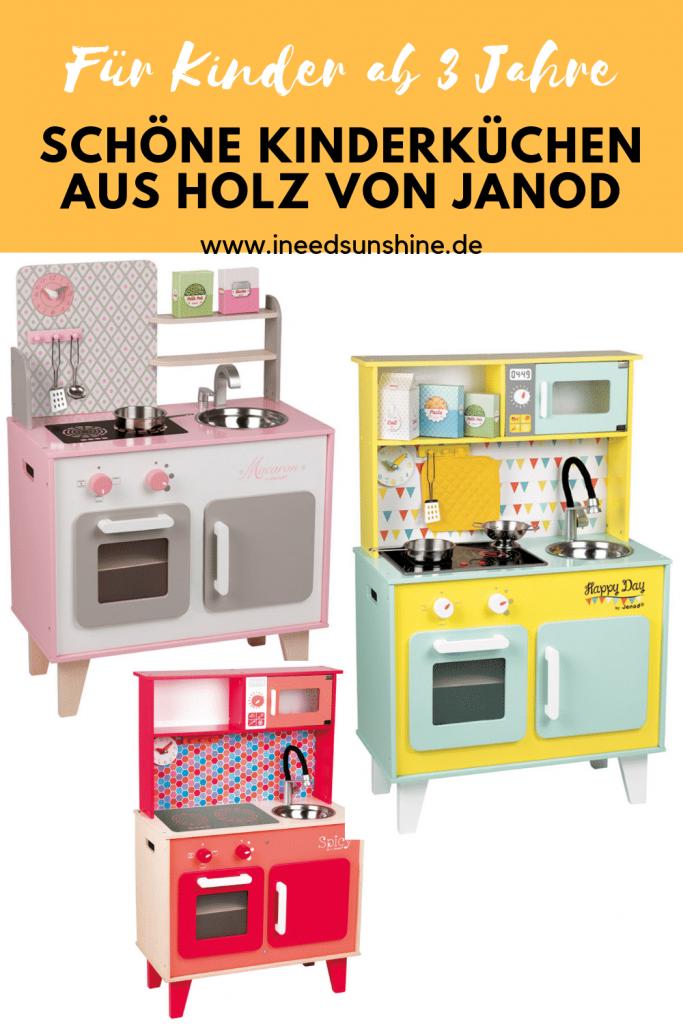 Schöne außergewöhnliche Kinderküchen aus Holz von Janod bei Tausendkind im Test und weitere Tipps für Holzspielzeug für Kinder auf Mamablog I need sunshine