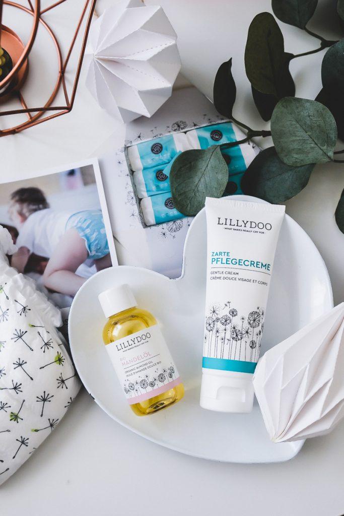 Neue LILLYDOO Hautpflege Zarte Pflegecreme und Mandelöl für Babys und Kleinkinder im Test mit Erfahrungsbericht auf Mamablog Ineedsunshine