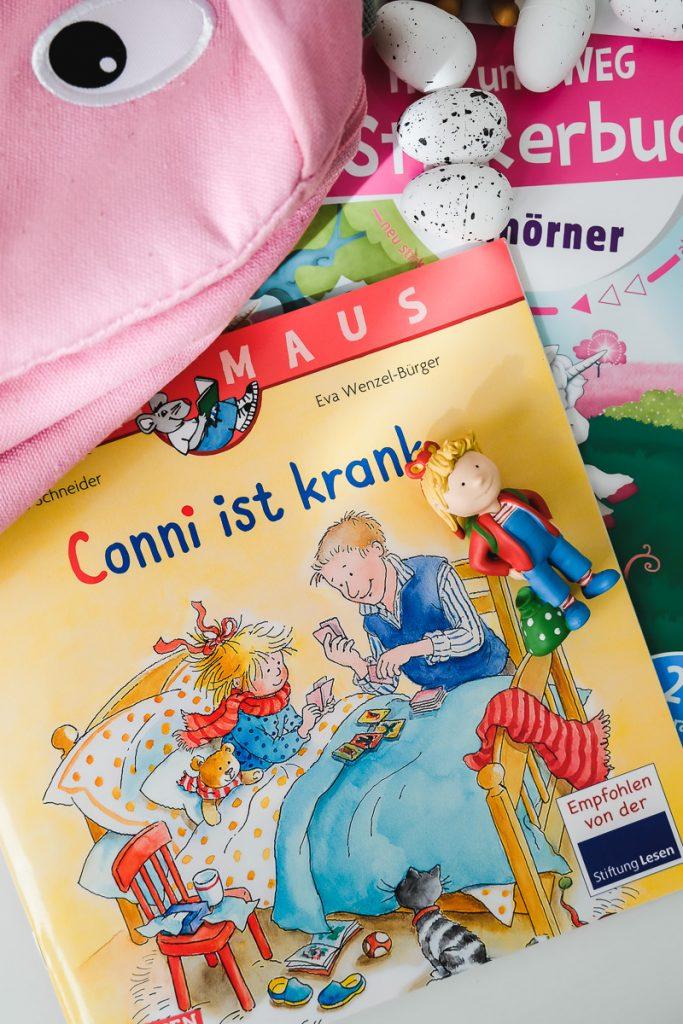 Kleine Ostergeschenke für Kinder Maxi Pixi Bücher Lesemaus Conni Bücher Tipsp Empfehlungen Geschenkideen zu Ostern für KLeinkinder Mamablog Ineedsunshine
