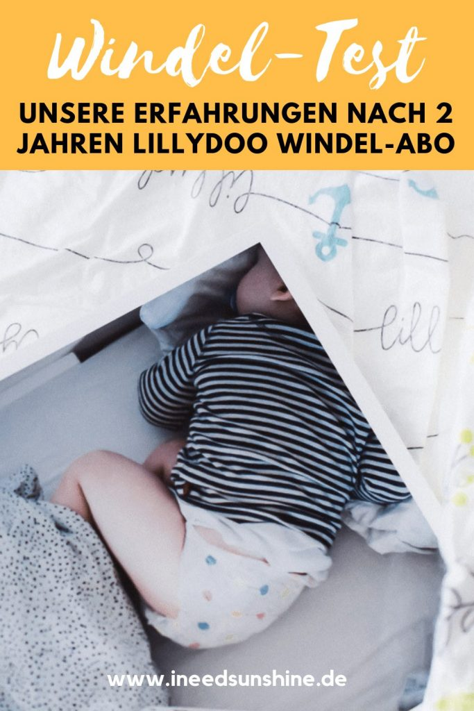 LILLYDOO Test mit LILLYDOO WIndel Abo und Erfahrungen mit LILLYDOO Windeln für Babys und Kleinkinder auf Mamablog Ineedsunshine