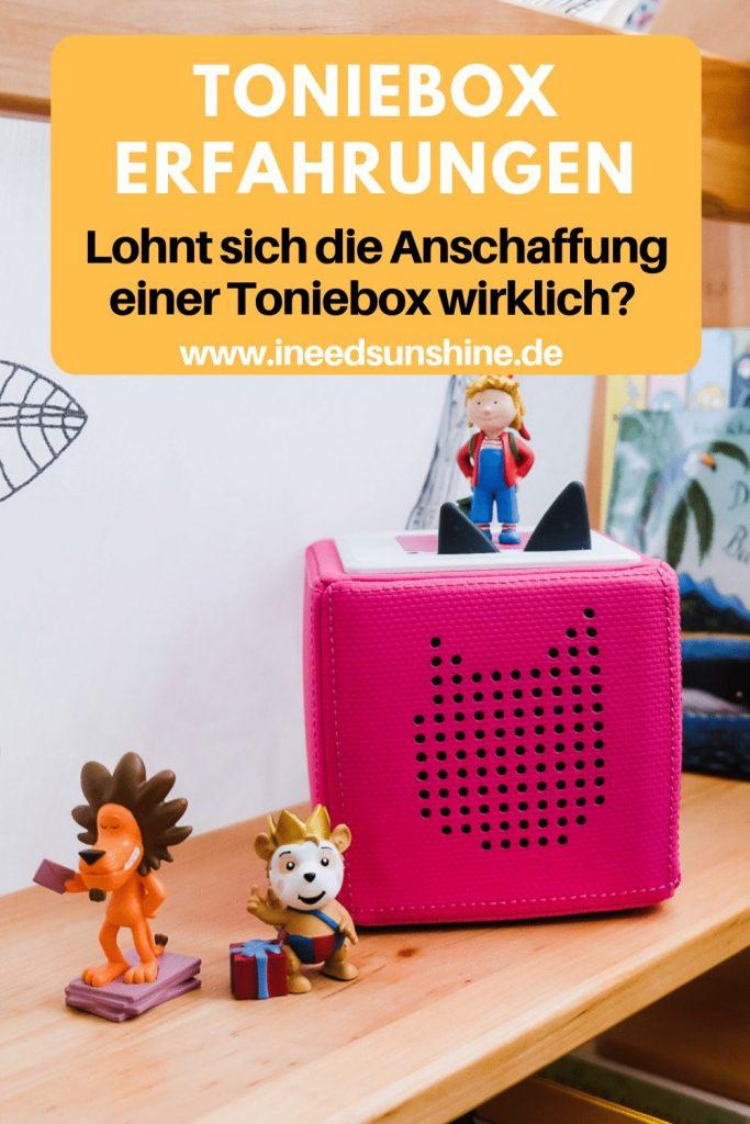 Erfahrungen mit der Toniebox Erfahrungen auf Mamablog Ineedsunshine