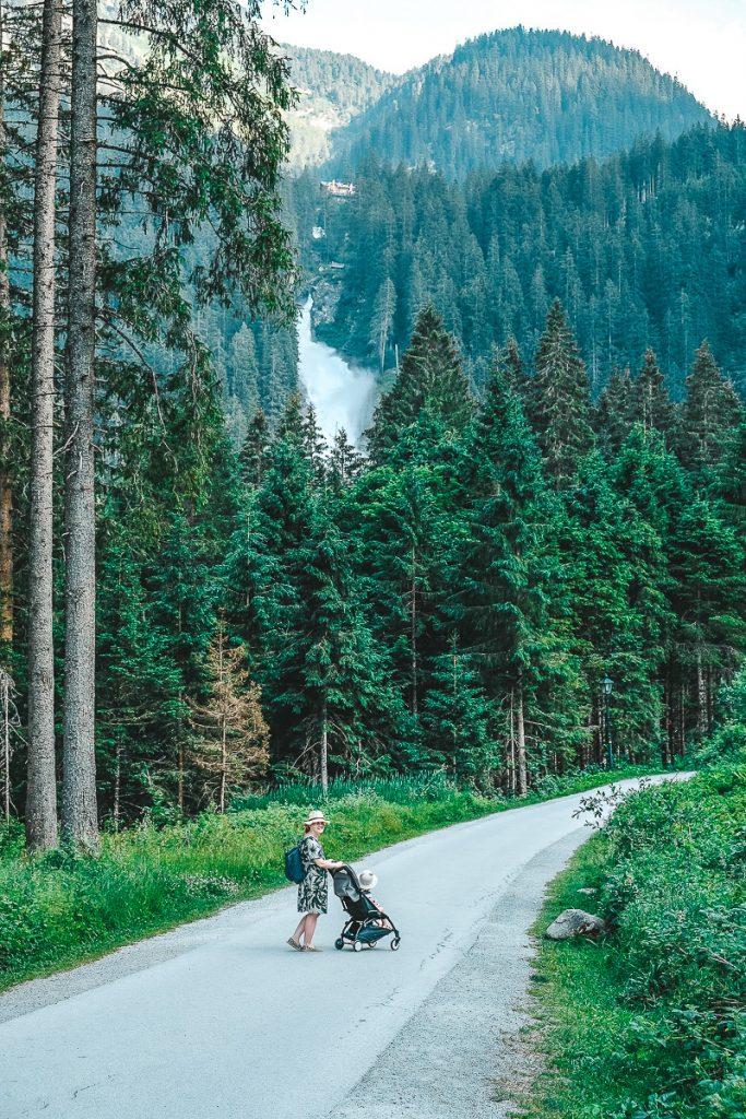 Schloss Mittersill Ausflüge Kimmler Wasserfälle Weg für Kinderwagen geeignet