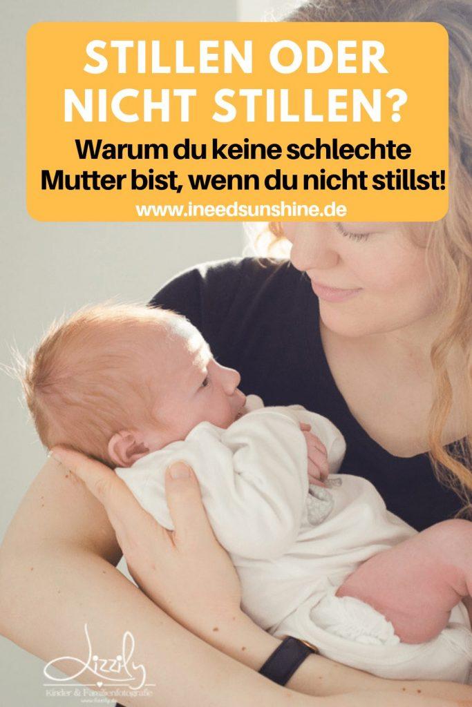 Baby nicht stillen wollen oder können ohne schlechtes Gewissen als Mutter und Tipps für achtsames und bedürfnisorientieres Fläschen geben