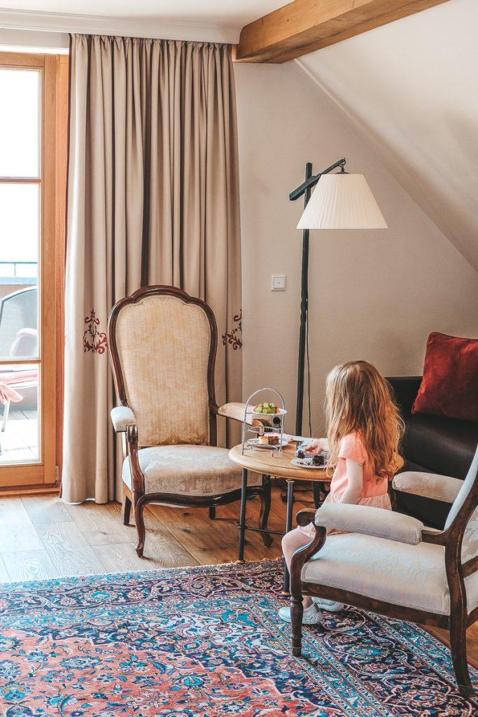 Schloss Mittersill Clark Gable Suite für den Familienurlaub in Österreich