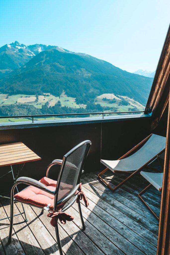 Schloss Mittersill: Balkon mit Panoramablick