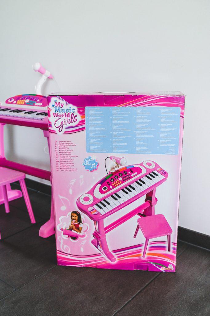Simba My Music World Girls Standkeyboard für Kinder in ros im Test und Erfahrungsbericht auf Mamablog I need sunshine