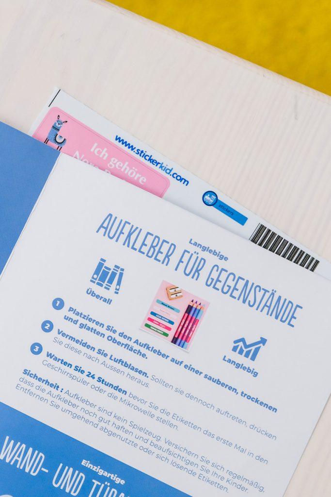 Stickerkid Namensaufkleber im Test auf Mamablog Ineedsunshine