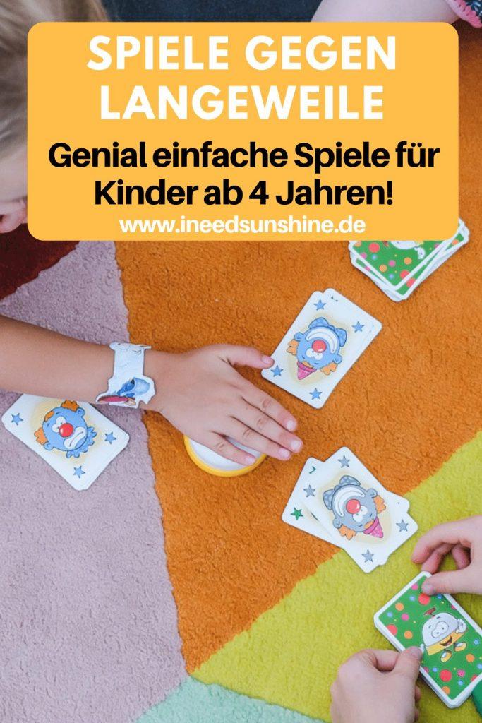 Tipps gegen Langeweile in den Ferien mit Spielideen für Kinder ab 4 Jahren auf Mamablog Ineedsunshine