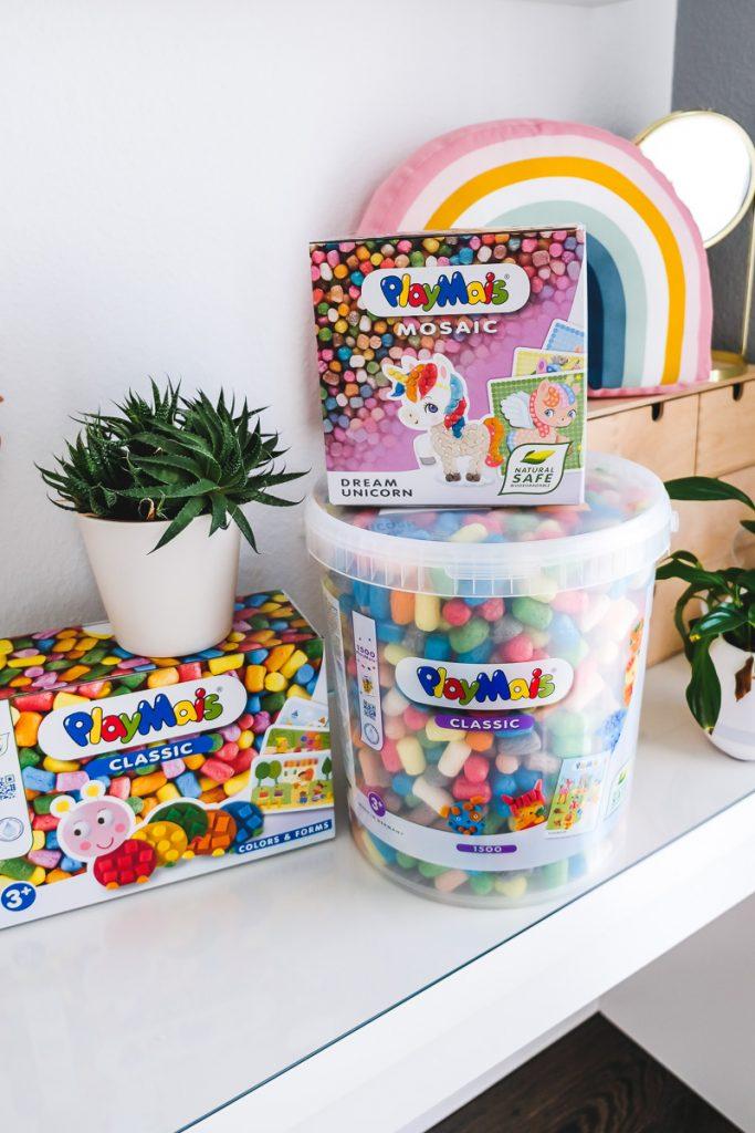 Geschenkideen Kinder basteln mit Playmais Erfahrungen auf Mamablog Ineedsunshine