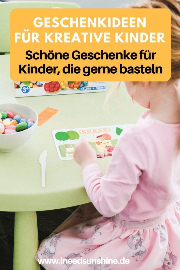 Kreative Geschenkideen für Kinder die gerne basteln auf Mamablog Ineedsunshine