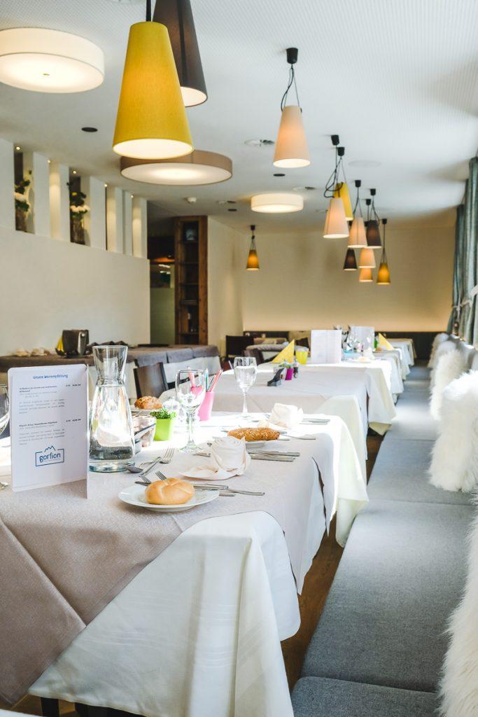 Gorfion Hotel Essen Erfahrungen Familienurlaub Liechtenstein Familienhotel Malbun auf Mamablog Ineedsunshine