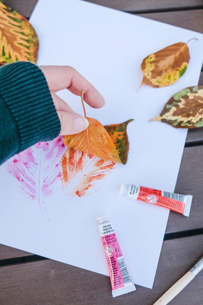 Spielideen Blätter Herbst Kinder Basteln Kleinkinder Ineedsunshine