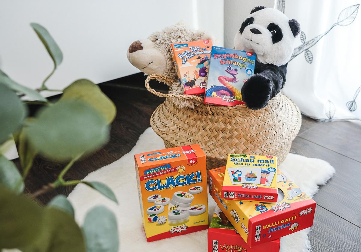 Tolle Geschenkidee für Kinder: Diese lustigen Kinderspiele ab 4 Jahren von AMIGO machen jede Menge Spaß!