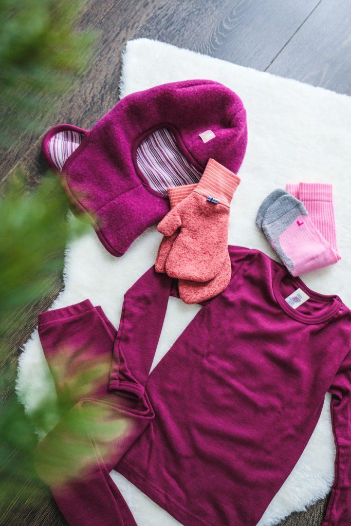 Engel Natur Kleidung Wolle Seide für Kinder im Winter