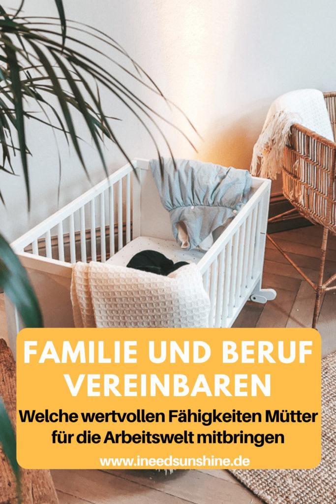 Familie und Beruf vereinbaren Tipps auf Mamablog Ineedsunshine