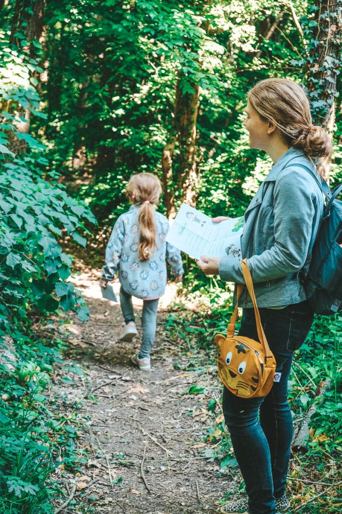 Waldrallye Ideen für Kinder Vorlage Fragen zum Ausdrucken