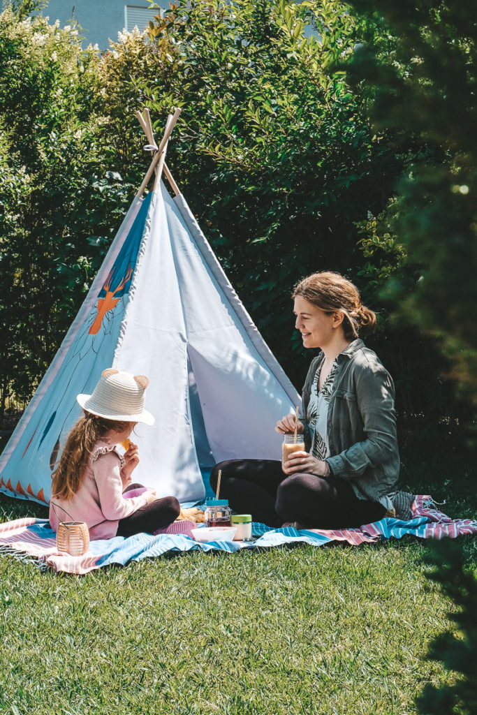 Picknick im Garten Tipps Ferien Zuhause
