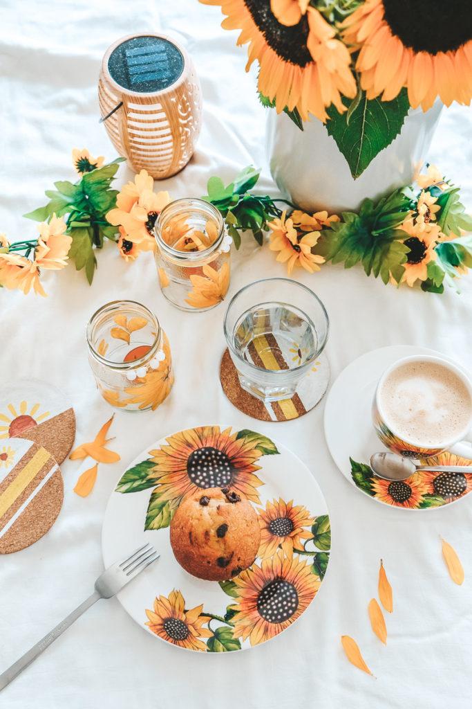 Sommerliche Tischdekoraton Tipps und Ideen