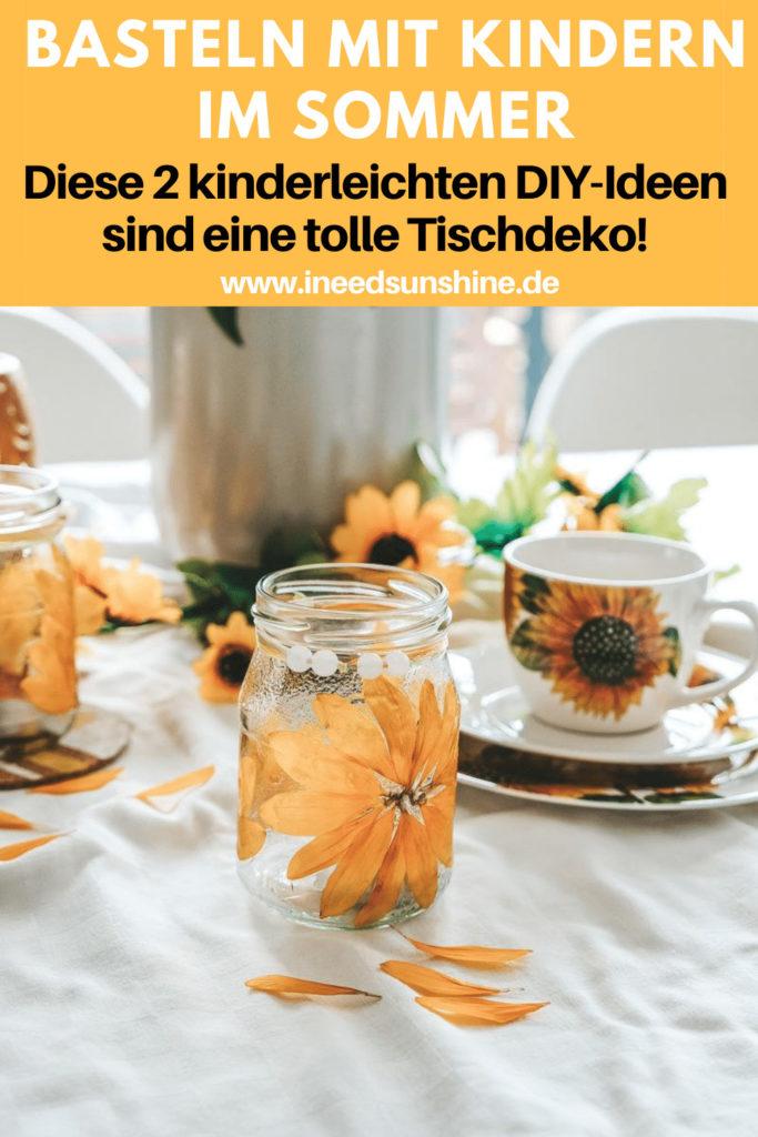 Sonnenblumen basteln mit Kindern Bastelideen