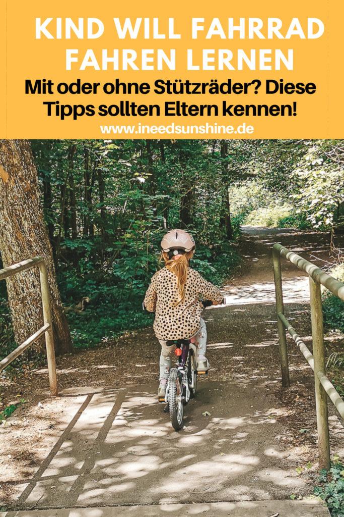 Kind Radfahren lernen ohne Stützräder Tipps und Erfahrungsbericht