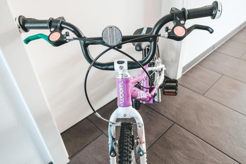 Woom Bike Handbremse und Lenker im Test