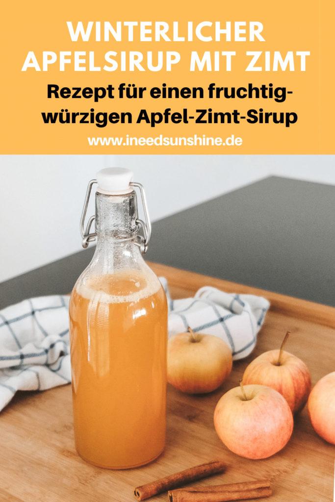 Zimt Apfel Sirups selber machen Rezept
