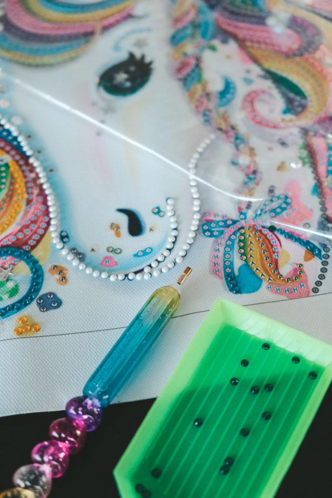 Diamond Painting Bild Einhorn für Kinder